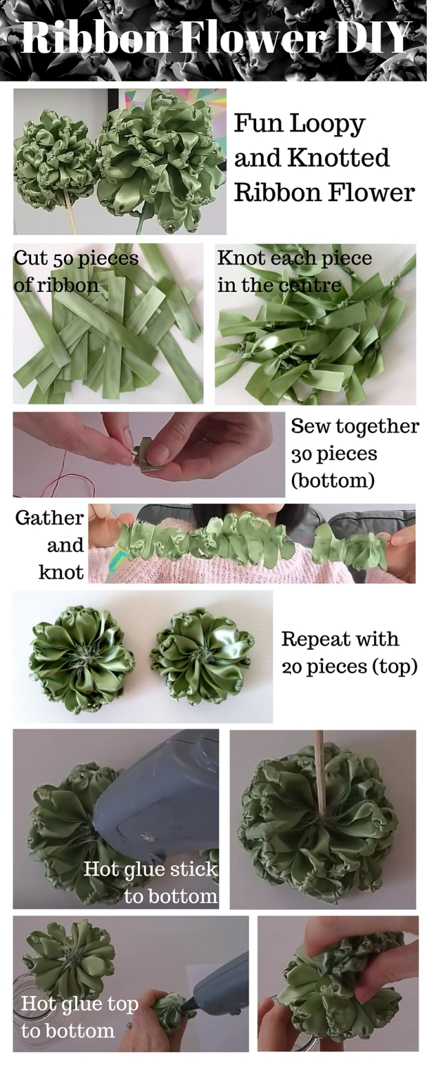 Ribbon Flower DIY (2)