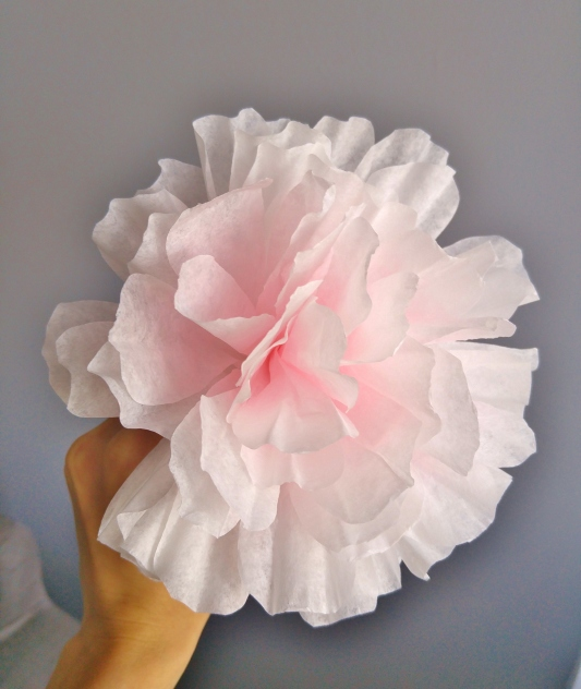 coffee filter flower- finished