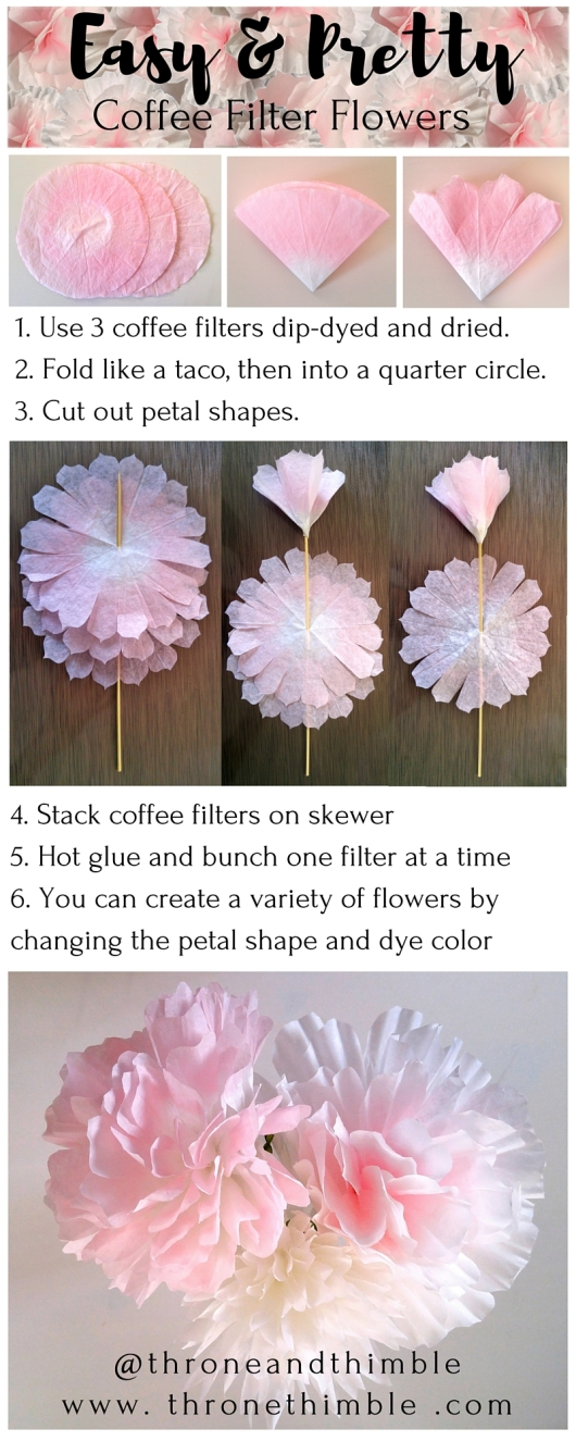 coffee filter flower pin 3