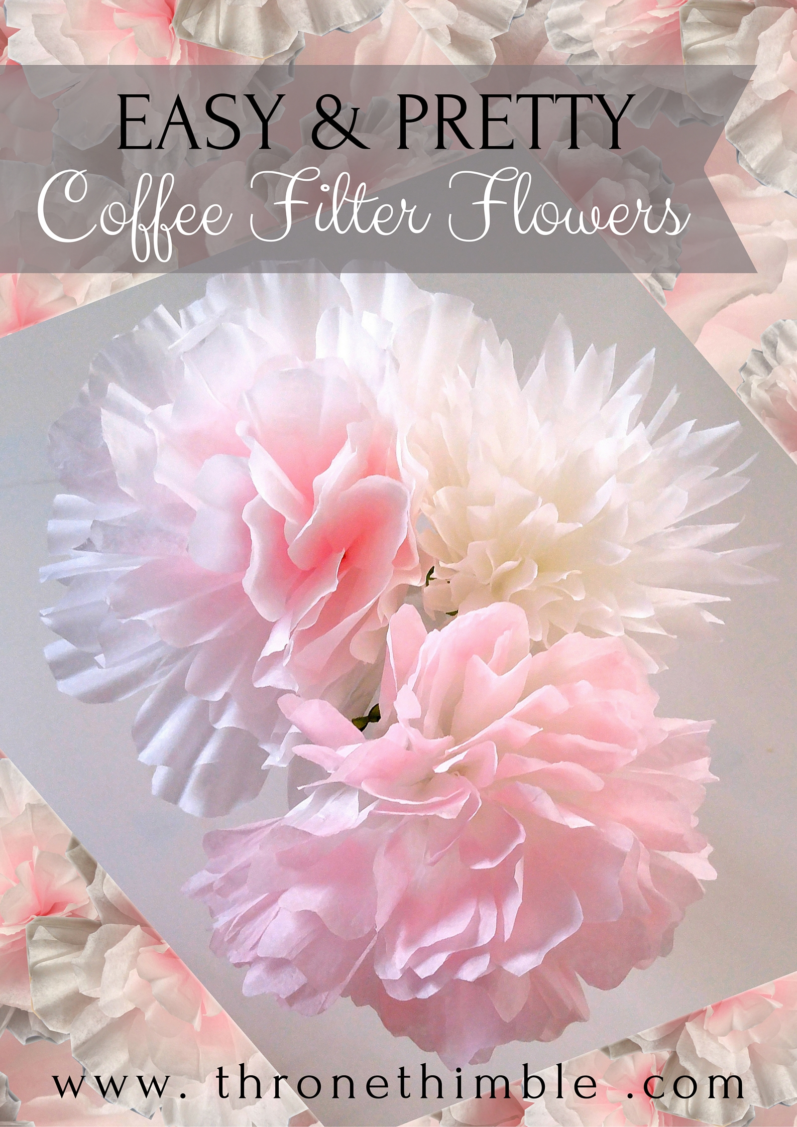 Coffee Filter Flowers Pin 2