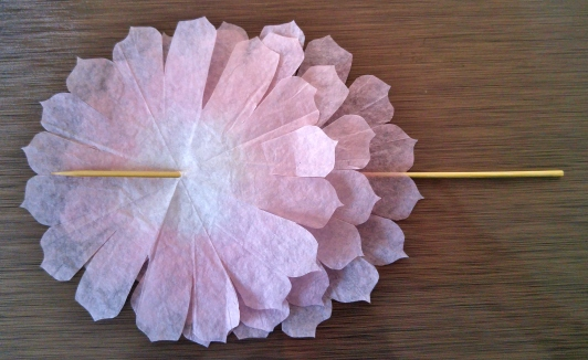 coffee filter flowers- step 6