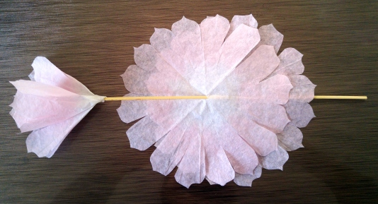 coffee filter flowers- step 7