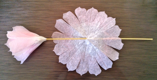 coffee filter flowers- step 8