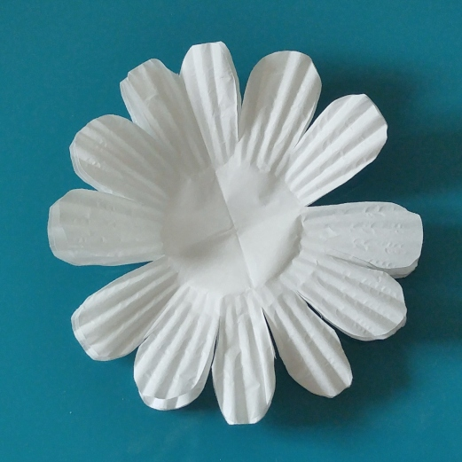 cupcake liners petals cut opened