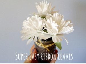 Ribbon leaves cover